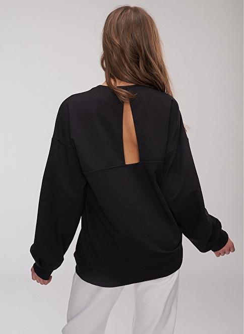 People By Fabrika Sırt Detaylı Sweatshirt Siyah